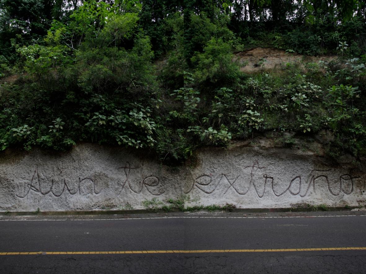 Land Art El Salvador, Aun te extraño, 1, Rolando Chicas